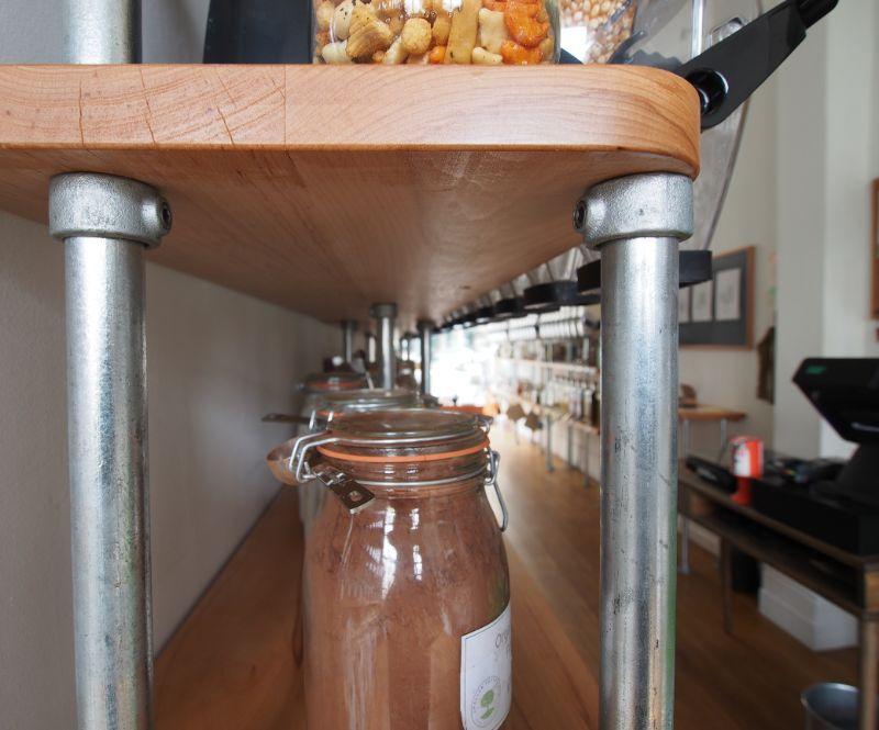 shelf underside